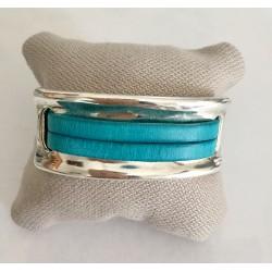 Bracelet plaque turquoise