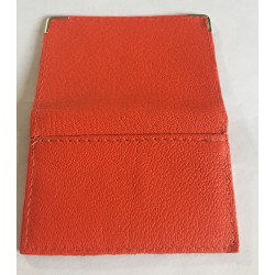 PORTE CARTE FORMAT CARTE BLEUE EN CUIR ORANGE